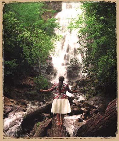 Amy Walker at Mingo Falls